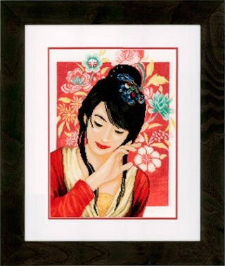 Asian Flower Girl by Lanarte