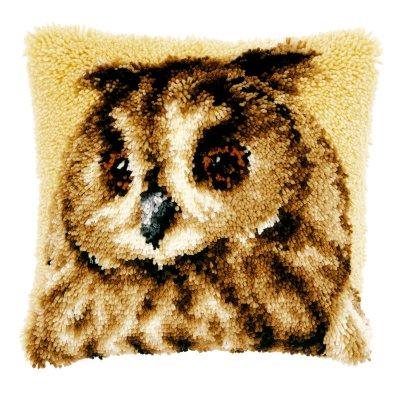 Brown Owl Pillow,PNV21650,Vervaco