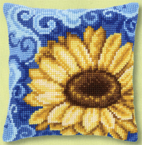 Sunflowers on Blue II,PNV146335,Vervaco