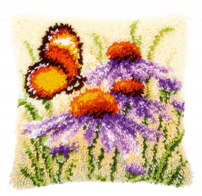 Echinacea and butterfly,PNV146947,Vervaco