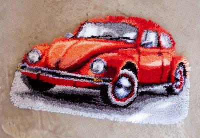 Red Beetle Rug by Vervaco