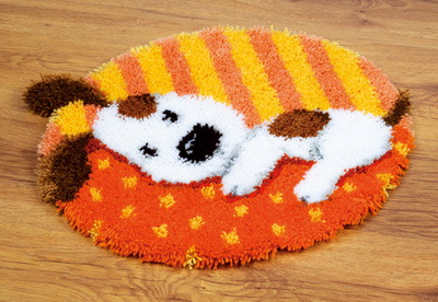 Spotted Puppy  Latch Hook Rug by Vervaco