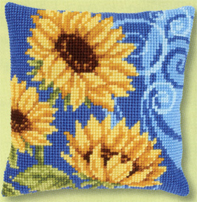 Sunflowers on Blue I,PNV21825,Vervaco