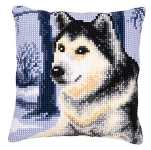 Wolf cushion,PNV8775,Vervaco