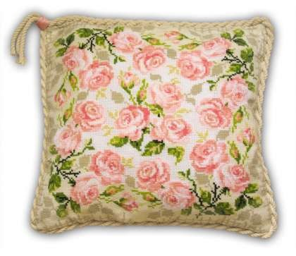 Pillow with Roses by Riolis