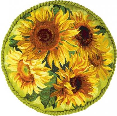 Sunflower cushion by Riolis