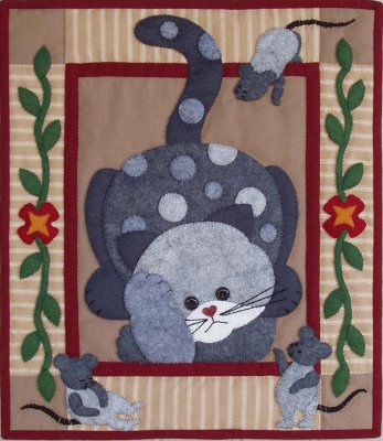 Spotty cat quilting cat by Rachael's of Greenfield