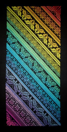 Twisted Rainbow Sampler (cross stitch only version),Northern Expressions