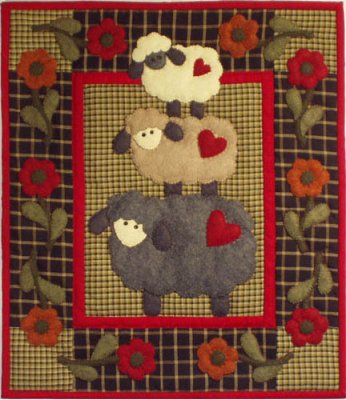 Wooly sheep quilting kit by Rachael's of Greenfield