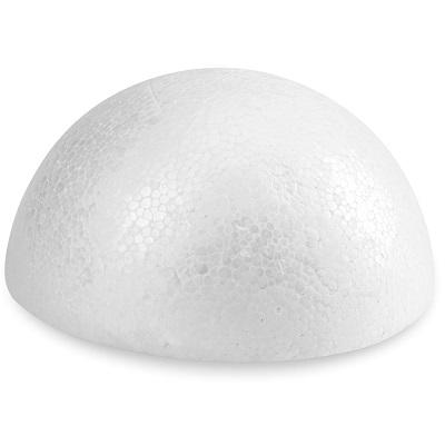 Smooth Styrofoam Half Ball 3.25