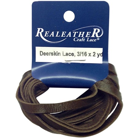 """Chocolate Crafts Deerskin Lace .1875""""X2yd by Realeather"""