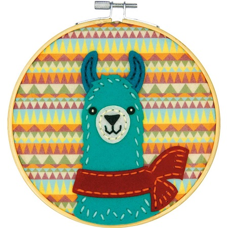 Dimensions DIY Felt Applique Kit 6-LLAMA