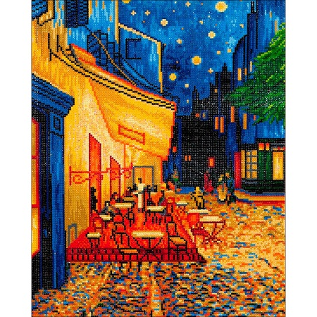 Diamond Dotz Diamond Embroidery Facet Art Kit Cafe at Night (Van Gogh) 23.5X33.5
