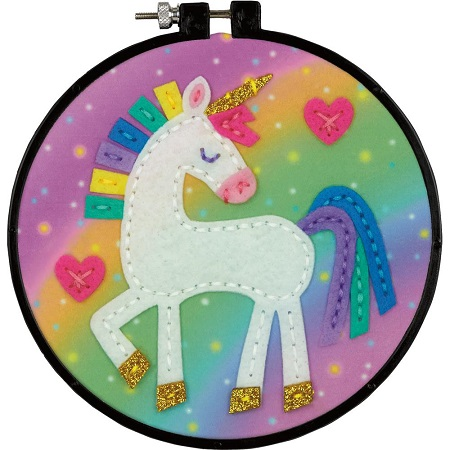 Dimensions Felt Decor Applique Kit-UNICORN