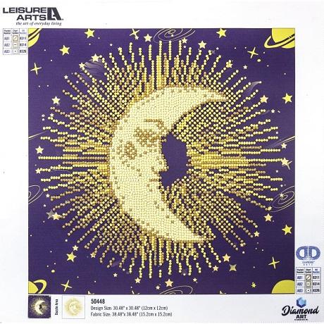 Leisure Arts Diamond Art MOON MANDALA Intermediate Kit 12X12