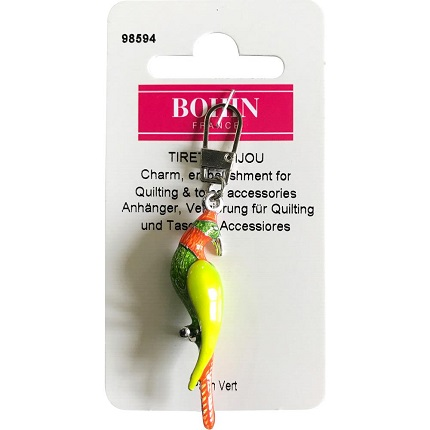 Bohin Decorative Charm-GREEN BIRD