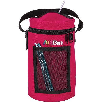 ArtBin Mini Yarn Drum 5.75X9.5-RASPBERRY