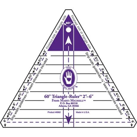 Marti Michell 8962M 60 Degree Triangle Ruler