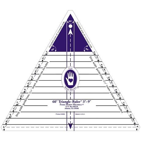 Marti Michell 8963M 60 Degree Triangle Ruler