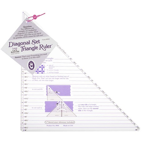 Marti Michell 8968M Large Diagonal Set Triangle Ruler