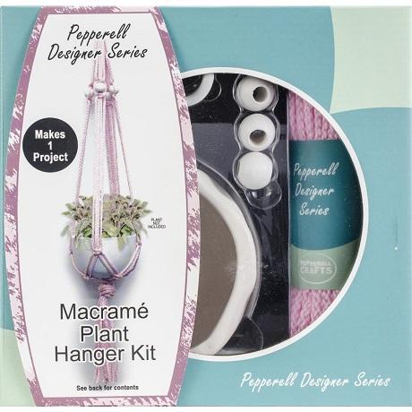 PINK Pepperell Designer Macrame Plant Hanger Kit