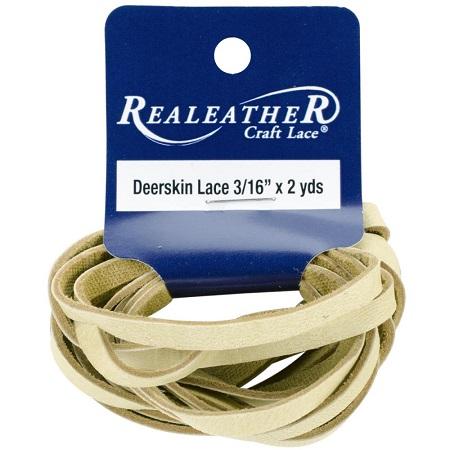 """Buckskin Crafts Deerskin Lace .1875""""X2yd by Realeather"""