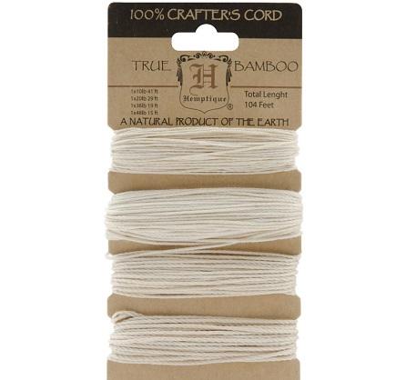 Hemptique Bamboo Cord Mixed Sizes 104' NATURAL