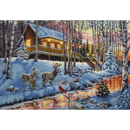 Dimensions 70-08976 Winter Cabin