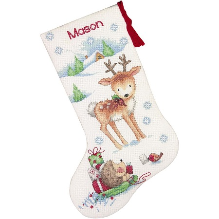 Dimensions 70-08978 Reindeer Hedgehog stocking