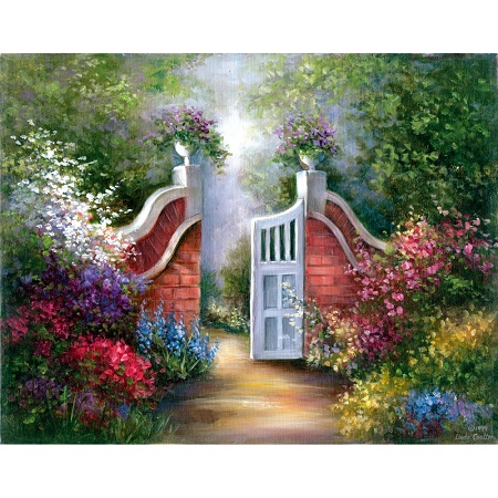 "Royal Brush Garden Gate Acrylic Paint Your Own Masterpiece Kit 11""X14"""