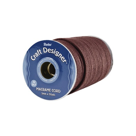 Brown poly Macrame Cord 32-Ply 3mmX50yd