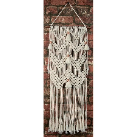 Chevrons and Tassels Macrame Wall Hanger Kit by Solid Oak