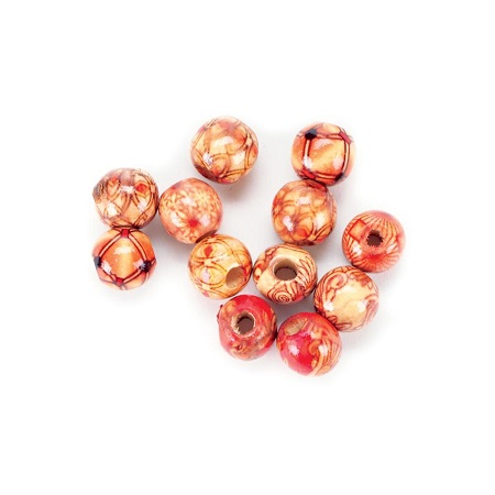 Wood Barrel Beads 12mm 60/Pkg