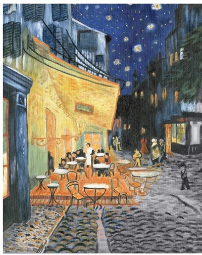 "Royal Brush Terrace at night Acrylic Paint Your Own Masterpiece Kit 11""X14"""