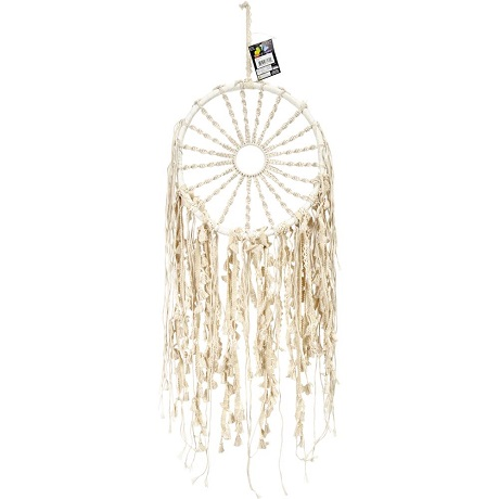 "Macrame Hoop W/Braided Sun 29"" Wall Hanging by Midwest Design"