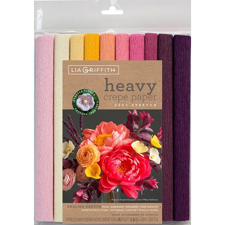 Heavy Crepe Paper 10/Pkg ENGLISH GARDEN by Lia Griffith