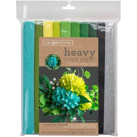 Heavy Crepe Paper 10/Pkg BOTANICAL GARDEN by Lia Griffith