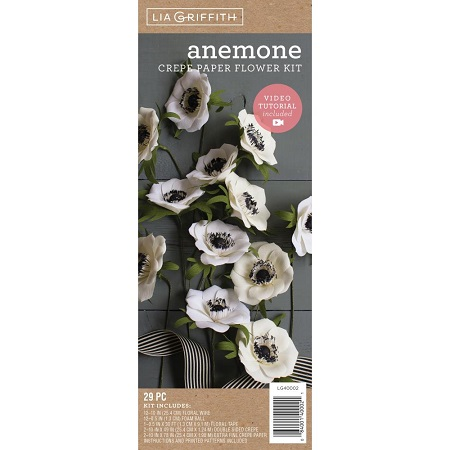 Crepe Paper Flower Kit ANEMONIES by Lia Griffith