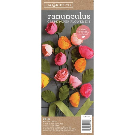 Crepe Paper Flower Kit RANUNCULUS by Lia Griffith