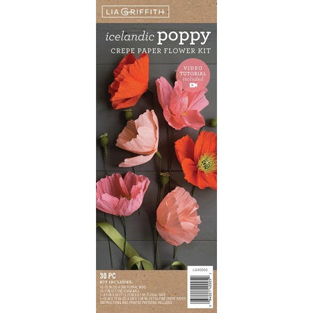 Crepe Paper Flower Kit POPPIES by Lia Griffith