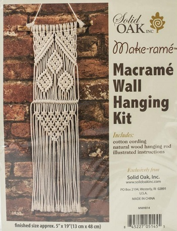 Three leaves Small Format Macrame Kit by Solid Oak