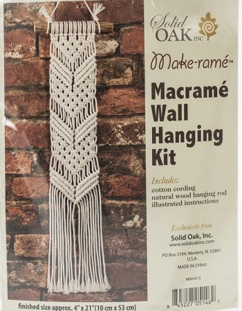 Chevrons Small Format Macrame Kit by Solid Oak