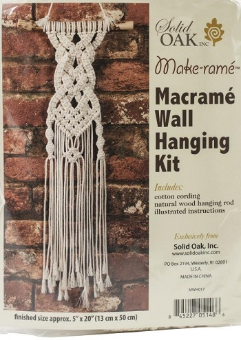 Celtic braids Small Format Macrame Kit by Solid Oak