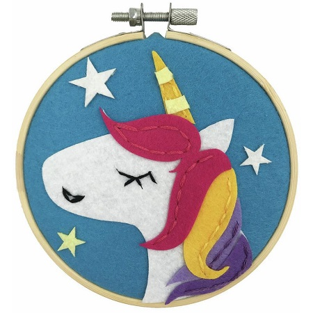 UNICORN Stitchin' Kidz Felt Hoop Kit 4 by Fabric Editions