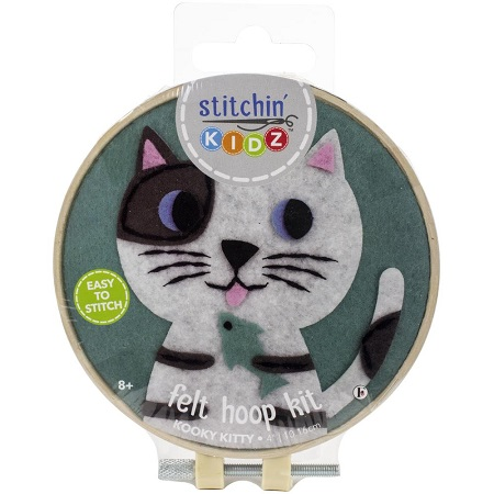 CAT Stitchin' Kidz Felt Hoop Kit 4 by Fabric Editions