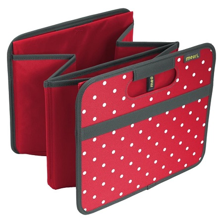 Meori Foldable Box Large-Hibiscus red dots
