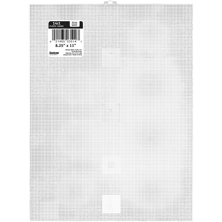 Design Works Plastic Canvas 14 Count 8.25X11 WHITE