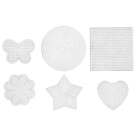 Janlynn Plastic Canvas Shapes 7 Count 12/Pkg