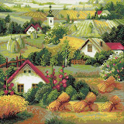 RIOLIS Diamond Mosaic Embroidery Kit Serbian landscape