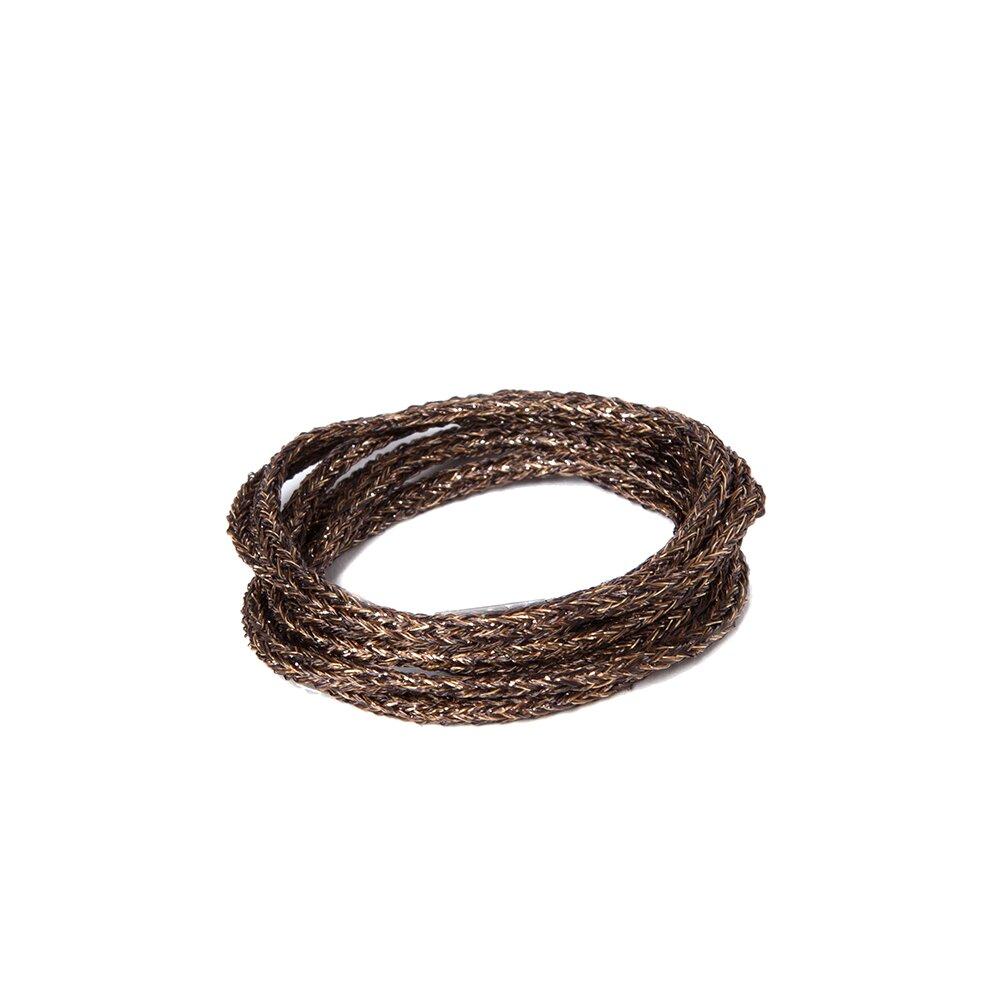 Soft Metallic Tubular Braid Castillian Bronze